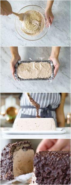 Torta Gelada Chokito, incrivelmente crocante e deliciosa #torta #chokito #chocolate #doce #doces #sobremesa #sobremesas