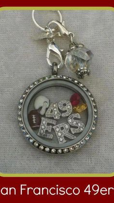 49ers football locket... www.jessicahensley.origamiowl.com
