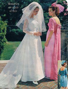 Penneys catalog Shelley Hack as bride Vintage Wedding Photos, Vintage Bridal, Vintage Weddings, Bridal Gowns, Wedding Gowns, Vintage Outfits, Vintage Fashion, Dress Vintage, Backless Prom Dresses