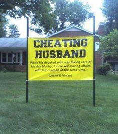 I'm not saying a cheating husband is funny.but his wife's payback.now, that's funny! Wish I would have thought of that! I Smile, Make Me Smile, Funny Quotes, Funny Memes, That's Hilarious, 9gag Memes, Funniest Jokes, 9gag Funny, Random Quotes