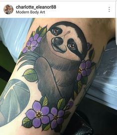 My little armpit sloth. Thought the inner arm was going to hurt like a MF but it was actually pretty tolerable. By Charlotte Timmons MBA Birmingham UK.
