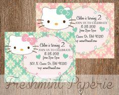 Printable invitations - Hello Kitty invitation