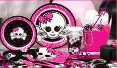 favors birthday kids | Pink Skull Zebra party combines the ultra trendy zebra print with ...