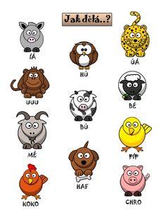 Citoslovce - Jak dělají zvířátka - Wiki Education, Comics, Logos, Autism, Logo, Cartoons, Onderwijs, Learning, Comic