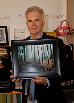 Tony Denison of The Closer with my winding Creek photograph at the #GoldenGlobes gift lounge! http://www.etsy.com/listing/39340378/winding-creek-nature-photography-once