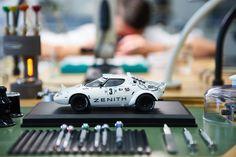 The Lancia Stratos en route through the workshops