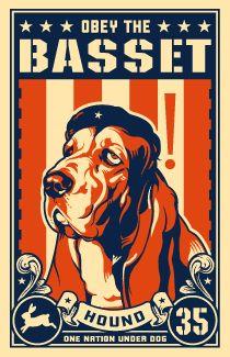 Obey the Basset Hound. cafepress.com