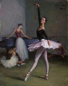 Serguei Zlenko Ballet Art, Ballet Girls, Ballet Dancers, Ballerina Kunst, Ballerina Dancing, Contemporary Ballet, Dance 4, Dance Paintings, Dance Tights