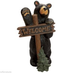 NEW BEARFOOTS BEAR JEFF FLEMING BIG SKY CARVERS WELCOME GRAND BEAR