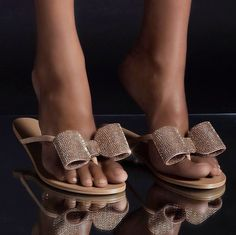 Gold Flip Flops, Beach Flip Flops, Flip Flop Shoes, Sock Shoes, Cute Shoes, Shoe Boots, T Strap, Ankle Strap, Aminah Abdul Jillil