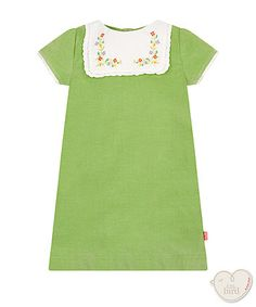 Little Bird by Jools green pinny dress