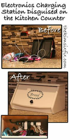 Breadbox turned Electronics Charging Station