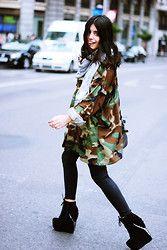 Aida Domenech Aida D - Zara Foular, Vintage Jacket, Topshop Pants, Jeffrey Campbell Shoes - Monster Shoes JC!