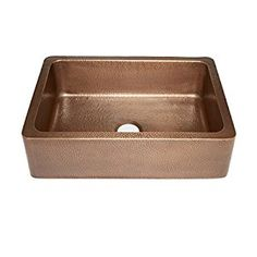 "Sinkology SK302-30AC Courbet Farmhouse Apron Front Handmade Single Bowl Kitchen Sink, 30"", Hammered Antique Copper - - Amazon.com"