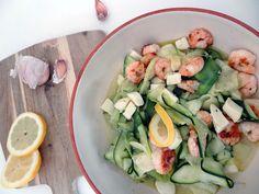 Filine: Sommersalat mit Garnelen für laue Sommerabende