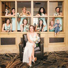 Sea Foam Green Bridal Party // photo by: Studio Austin Weddings // http://www.theknot.com/weddings/album/a-natural-outdoor-wedding-in-austin-tx-137112