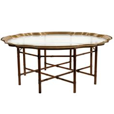 Baker Faux Bamboo and Brass Coffee Table | From a unique collection of antique and modern coffee and cocktail tables at http://www.1stdibs.com/furniture/tables/coffee-tables-cocktail-tables/