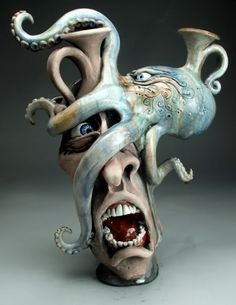 Mitchell Grafton – Octopus Jug Ceramic Sculpture – grotesque ware