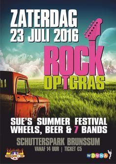 Klein festival op 23 juli 2016 in Brunssum, met 7 live acts, entree € 5,00 aanmelden fb: https://www.facebook.com/events/1135506806512418/
