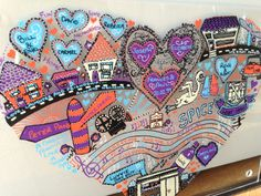 Memory Doodles #handmade to make you remember and smile #wallart #unusual #quirky #different www.zipadeedoodle.co.uk