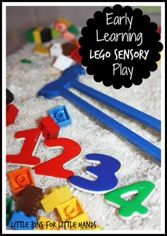 Lego Sensory bin For Early Learning Math And Fine Motor Skills for Little Bins for Little Hands
