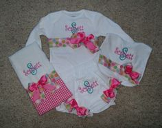 Personalized Onesie Burp Cloth Diaper Cover by KadeesKidsKlothes, $46.00