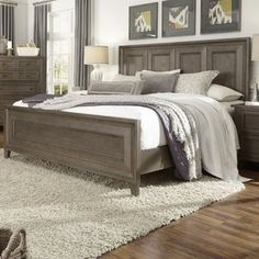 Rosecliff Heights Stoughton Standard Bed Size: Queen, Color: Light Brown furniture french furniture without sanding furniture before and after furniture shabby chic Farm Bedroom, Bedroom Wall, Bedroom Furniture, Bedroom Decor, Farmhouse Bedroom Set, Furniture Layout, House Furniture, Kitchen Furniture, Bed Room