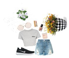 """""""Sporty"""" by alfasahid on Polyvore featuring Grandin Road, J Brand, Topshop, Sunday Somewhere, NIKE, Jouer, Axiology and Bobbi Brown Cosmetics"""