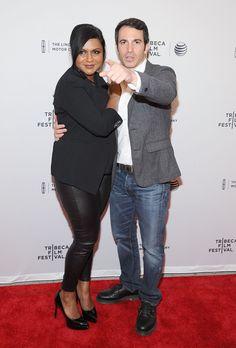 Pin for Later: Suite et fin du festival du film de Tribeca !  Mindy Kaling et Chris Messina sur le tapis rouge de The Mindy Project.