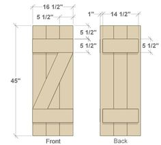 DIY shutters ~front and back dimensions(Diy Furniture Sliders) Outdoor Shutters, Diy Shutters, Wooden Shutters Exterior, Exterior Paint, Exterior Design, Cottage Shutters, Cedar Shutters, Exterior Windows, Farmhouse Shutters