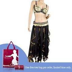 c1e1a1b3b674 BellyLady Professional Belly Dance Costume, Sequined Bra And Lotus Leaf  Skirt Set, Vogue Style