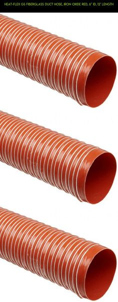 """Heat-Flex GS Fiberglass Duct Hose, Iron Oxide Red, 6"""" ID, 12' Length #plans #drone #duct #gadgets #parts #racing #fpv #technology #tech #kit #shopping #products #heating #6 #camera"""