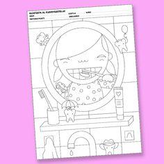 GRATIS - High Teeth Teeth Health, Healthy Teeth, Dental Health, Health Activities, Color Activities, Activities For Kids, Kindergarten Themes, Hygiene, Tooth Fairy