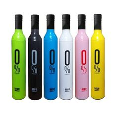 It is not only a pretty bottle but a pretty umbrella when you open the top of the bottle and pull it out. You can keep the wet umbrella inside the bottle. This is absolutely a nice choice to present it as a interesting gift  Put the wet umbrella in the case, then you can freely put it into your handbag and backpack after using design umbrella  Fold-able umbrella in self and in a bottle easy to use has a strap for covering handling issues  This unique designed case hides an umbrella inside… Travel Umbrella, Rain Umbrella, Automatic Umbrella, Wet Floor, Bottle Cover, Deco, Plastic Case, Best Gifts, Water Bottle