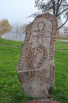Frösö runestone dating from 1050, (conservation done after a grafitti attack) Östersund, Jämtland, Sweden by Bochum1805, via Flickr