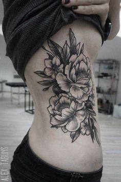 Le bouquet sur le côté