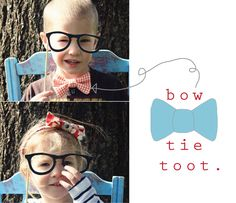 Mustache Party: bow tie and headband tutorial