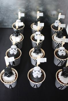 Star Wars Birthday Party - like the idea of black and white theme and use of washi tape