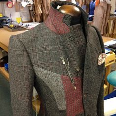 DAVIDE TAUB: From The Archive: Tweed Patchwork Curved-Seam Jacket, 2011