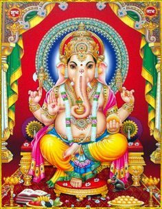 Ganesha is widely revered as the remover of obstacles, the patron of arts and sciences and the deva of intellect and wisdom. Arte Ganesha, Sri Ganesh, Ganesh Lord, Shiva Hindu, Shiva Art, Hindu Deities, Hindu Art, Krishna, Shri Ganesh Images