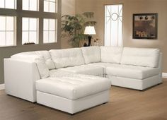 White Sectional Couch- this color wouldn't work but the shape