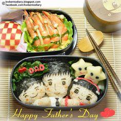 Karenwee's Bento Diary: Bento2014#Jun15~Happy Father's Day Bento