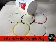 We are so excited to show you a 8 fun ways to reuse cups and straws to create Olympic inspired Games and Projects. We saved a few cups from our road trips from McDonald's, one of the Olympic sponsors. Preschool Arts And Crafts, Preschool At Home, Preschool Themes, Activities For Kids, Nursery Activities, Olympic Flag, Olympic Idea, Olympic Games, Olympics Kids Crafts