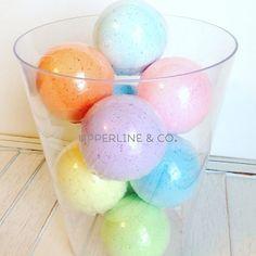 These bath bombs are like a bowl of sunshine! Www.upperlineandco.com #sunshine #bathbomb #bath #bathfizzies