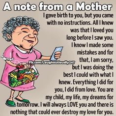 Note from a mother.