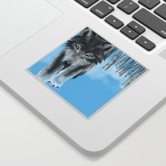 Winter Wolf Sticker by boissindesign Iphone Skins, Iphone Cases, Winter Wolves, Calendar Stickers, Apparel Design, Laptop Sleeves, Wolf, Pouch, Tote Bag