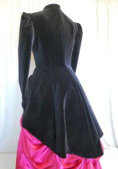 Black Velvet Victorian Style Jacket by britishsteampunk