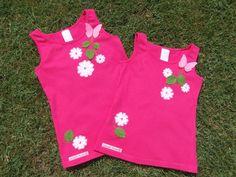 Camisetas tirantes flores y mariposas