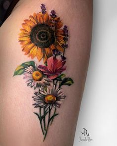 Sunflower Tattoo Simple, Sunflower Tattoo Shoulder, Sunflower Tattoos, Sunflower Tattoo Design, Sunflower Tattoo Meaning, Daisy Tattoo Designs, Design Tattoos, Foot Tattoos, Forearm Tattoos