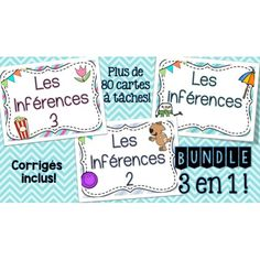Les inférences - Cartes à tâches - Lot complet! French Resources, French Immersion, Teaching French, Daily 5, Reading Activities, 5th Grades, French Language, Task Cards, Back To School